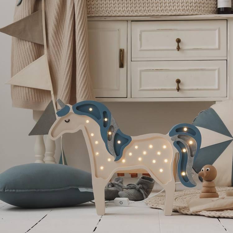 Nattlampa till barnrummet,  Enhörning , Little Lights