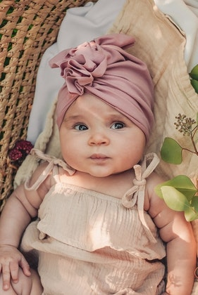 Looks by Luks turban/mössa, Organic mauve pink