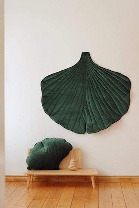 Moi Mili, lekmatta i sammet ginkgo, green