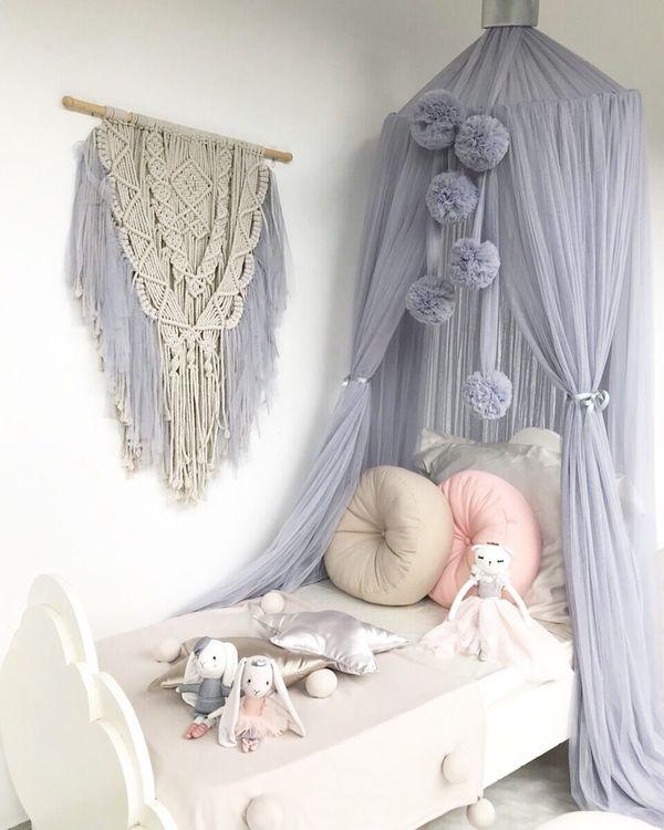 Spinkie Baby , sänghimmel Dreamy Light Grey Silver
