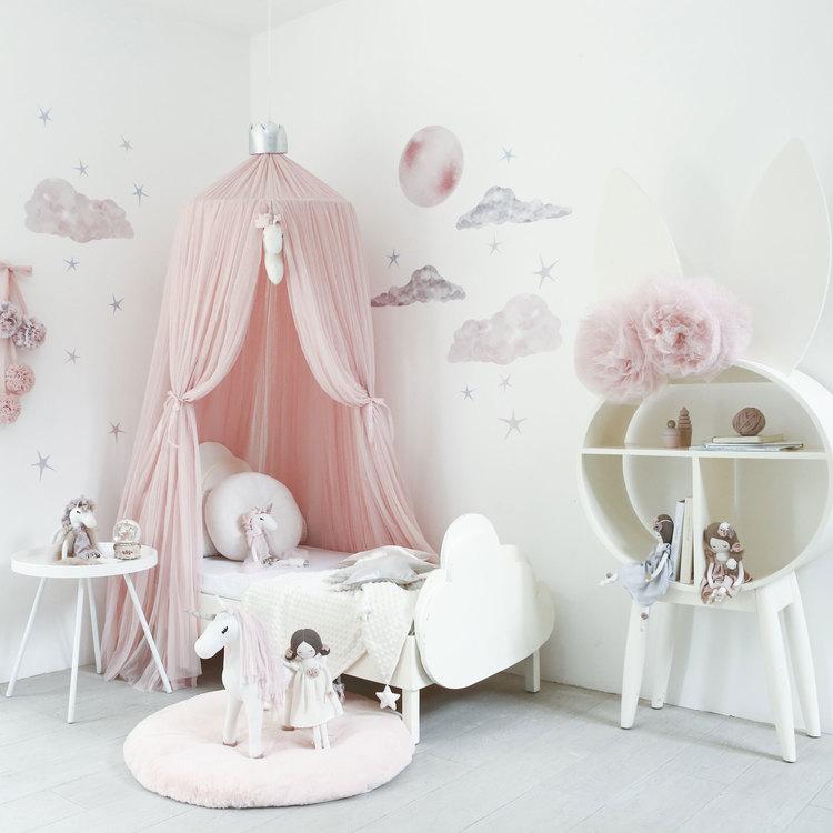 Spinkie Baby , sänghimmel Dreamy Light Pink Silver