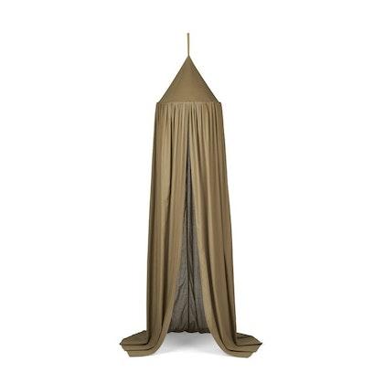 Liewood khaki sänghimmel med ljusslinga