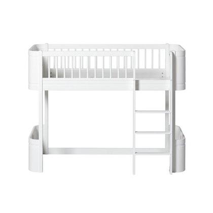 Oliver Furniture, Loftsäng mini+, vit