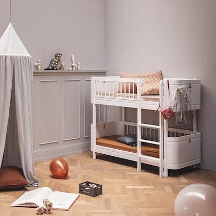 Oliver Furniture, våningssäng Mini+, vit