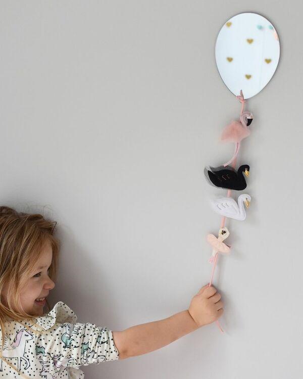 Spegel mini ballong till barnrummet