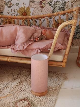 Sänglampa rosa linne