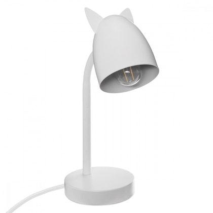 Bordslampa med öron till barnrummet, vit