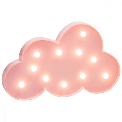 Vägglampa rosa moln nattlampa