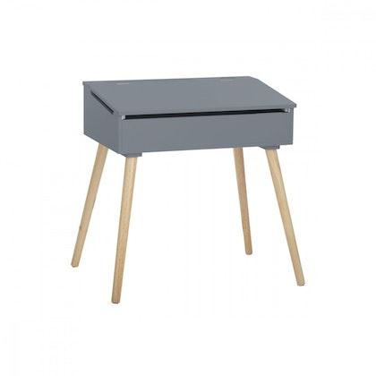 Skrivbord med förvaring, grå