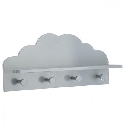 Hylla moln till barnrummet, grå