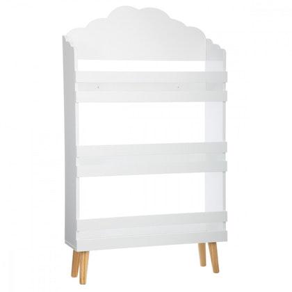 Bokhylla moln till barnrummet, vit