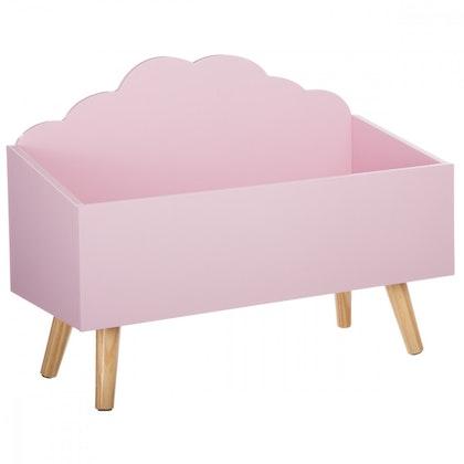 Förvaringslåda moln till barnrummet, rosa
