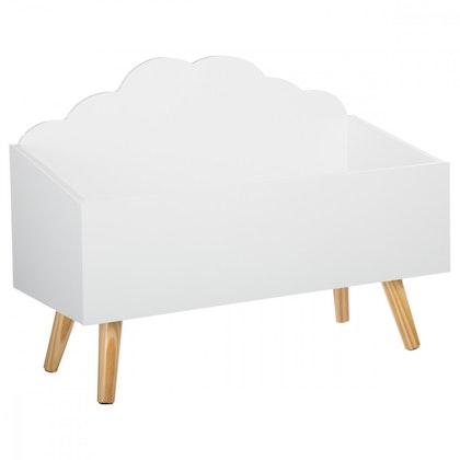 Förvaringslåda moln till barnrummet, vit