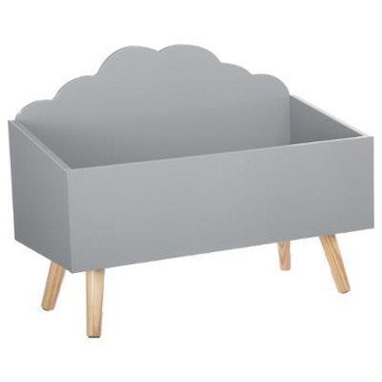 Förvaringslåda moln till barnrummet, grå