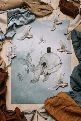 Mrs Mighetto, poster Dear Whalie