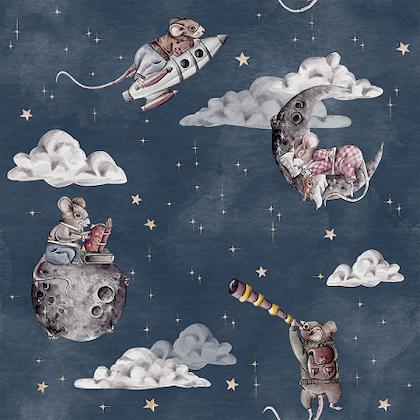 Dekorillo, tapet Little mouse sky