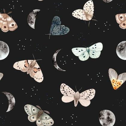Dekorillo, tapet Magic butterfly black