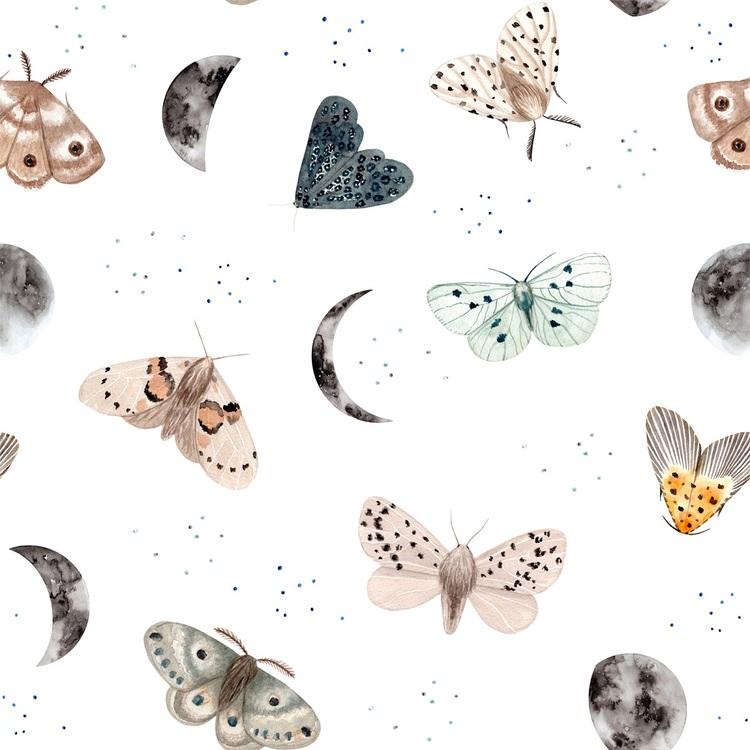Dekorillo, tapet Magic butterfly white