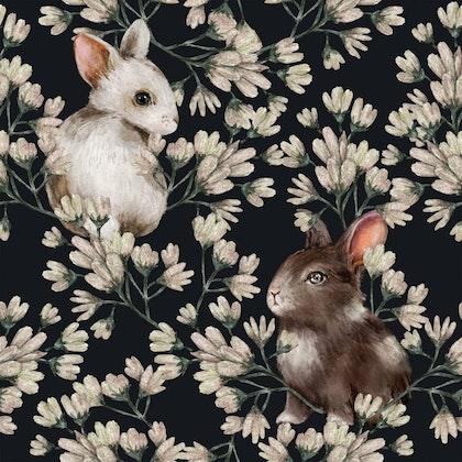 Dekorillo, tapet Rabbit world dark