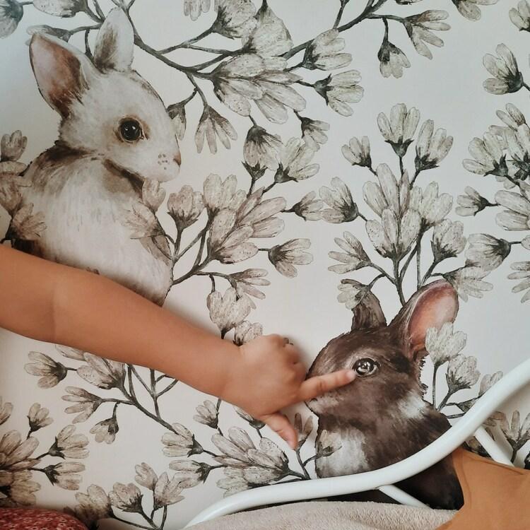 Dekorillo, tapet Rabbit world light