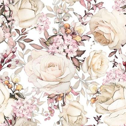 Dekorillo, tapet Pink garden