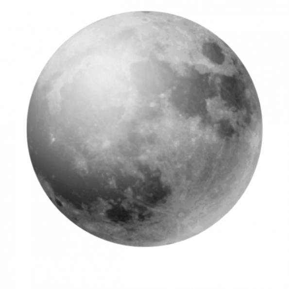 Dekornik, väggklistermärken Fullmåne