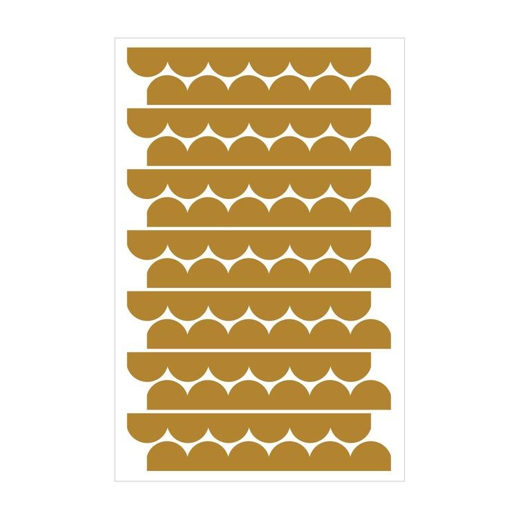 Dekornik, väggklistermärken mustard cirklar