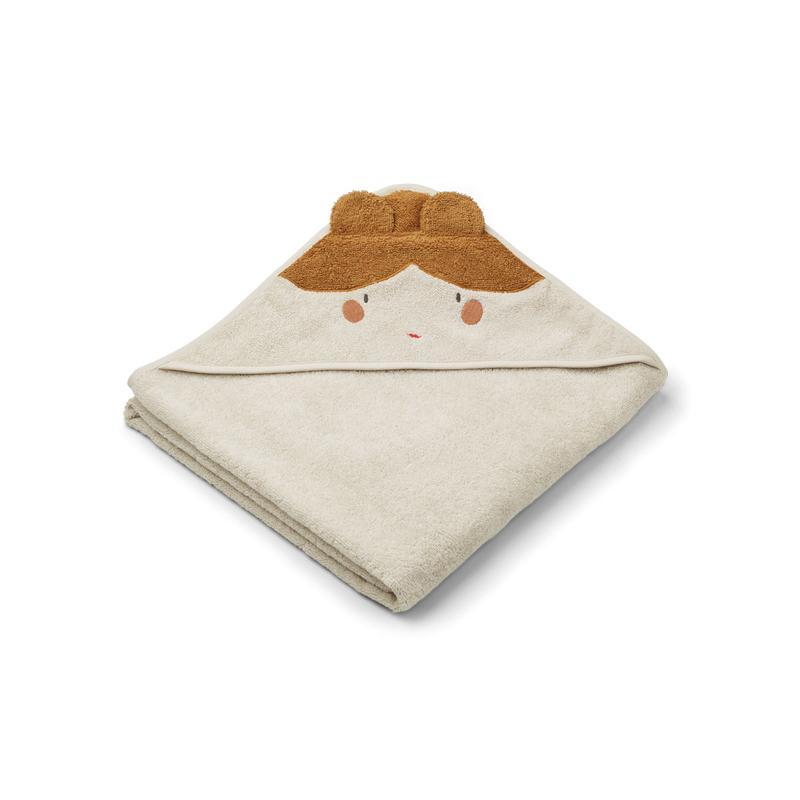 Liewood handuk med huva, Augusta Doll/sandy