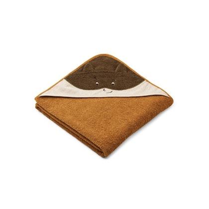 Liewood handuk med huva, Augusta Superhero/golden caramel