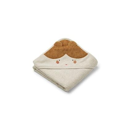 Liewood Albert doll/sandy, handduk med huva för nyfödda