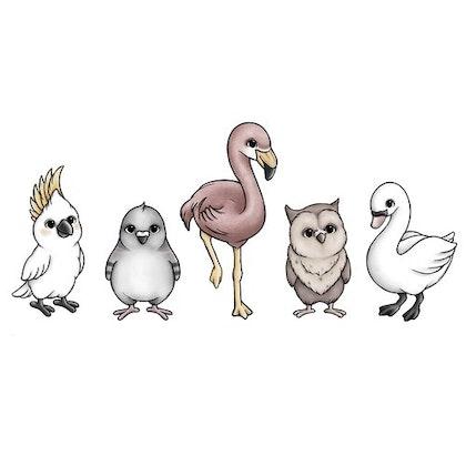 Fågelvänner väggklistermärken, Stickstay