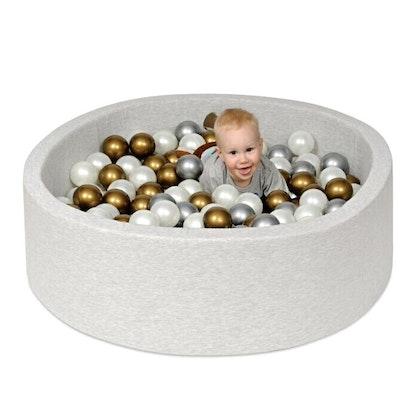Ljusgrå bollhav BASIC, 90x30, med valfria bollar