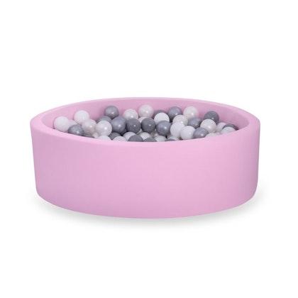 Rosa bollhav BASIC, 90x30 med bollar (grå,silver,pearl,vit)