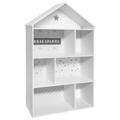 Dockhus hushylla, vit/grå