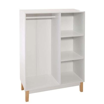 Garderob med hyllor, vit