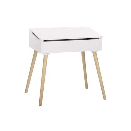 Skrivbord med förvaring, vit