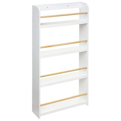 Klassisk bokhylla till barnrummet, vit