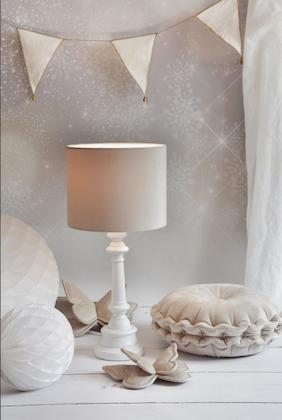 Bordslampa till barnrummet,  beige sammet