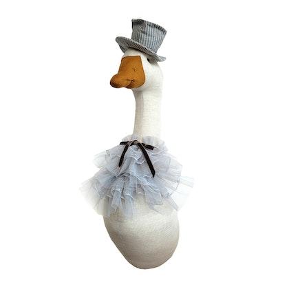 Väggdekoration natur gås med hatt