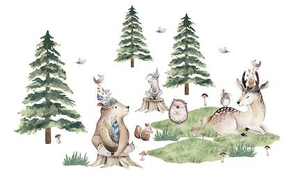 Väggklistermärken, Big forest friends