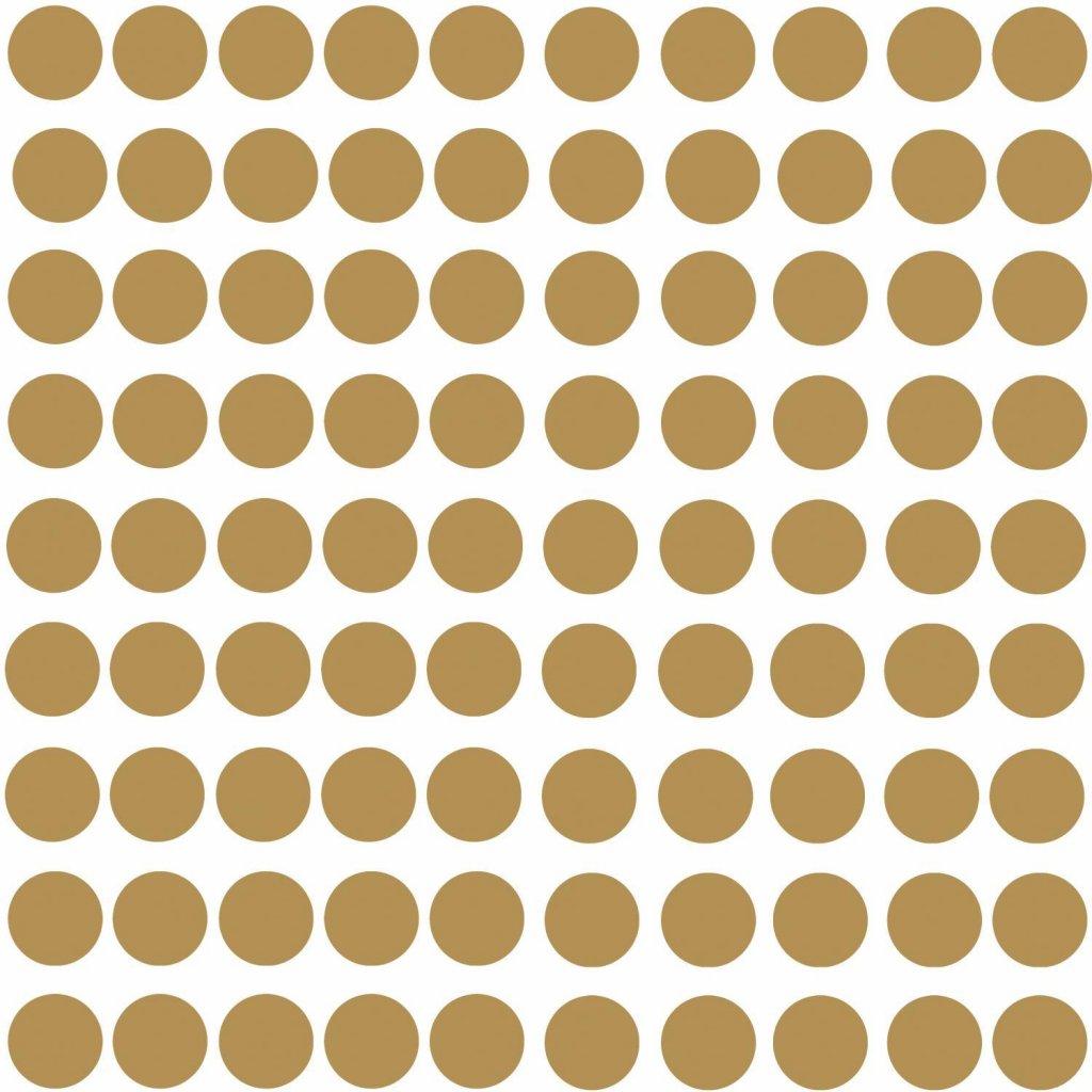Väggklistermärken guld prickar 56/80 st