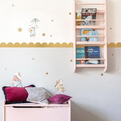 Dekornik, väggklistermärken guld cirklar