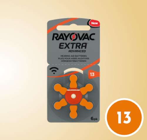 Hörapparatsbatteri Orange 13