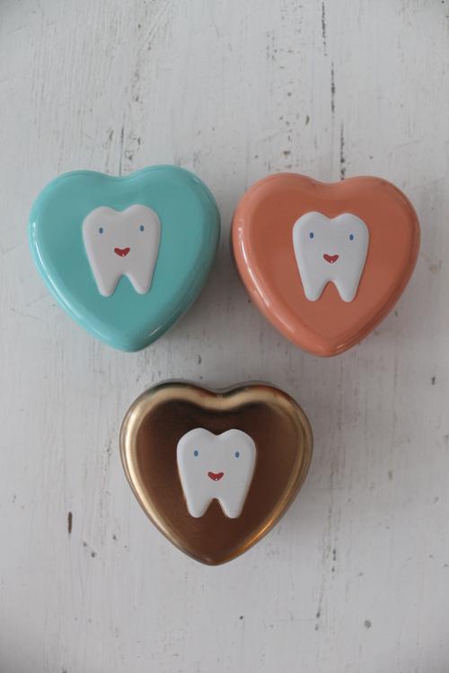 Tandask Hjärta Blå MAILEG