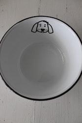 Hundskål Emalj IB LAURSEN