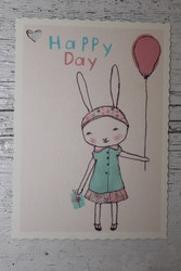 Litet kort - Happy Day Girl MAILEG