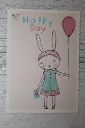 Litet kort - Happy Day Girl MAILEG
