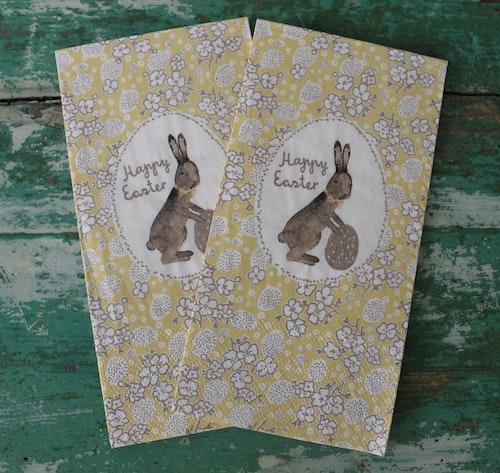Servetter Happy Easter Gula MAILEG