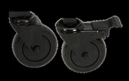 Låsbara hjul till stativ
