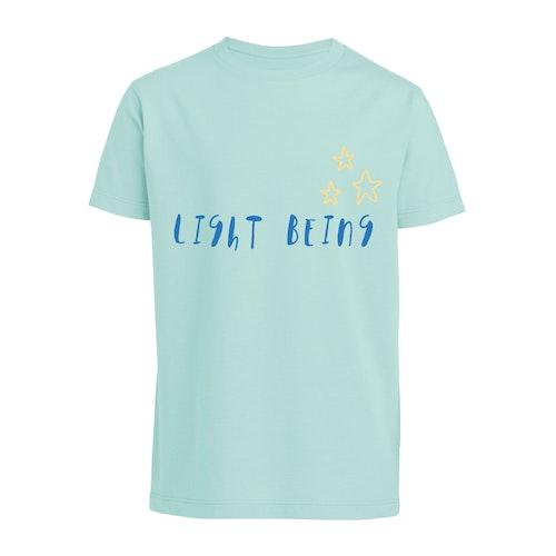Ekologisk t-shirt 'Light Being' i ljusblå